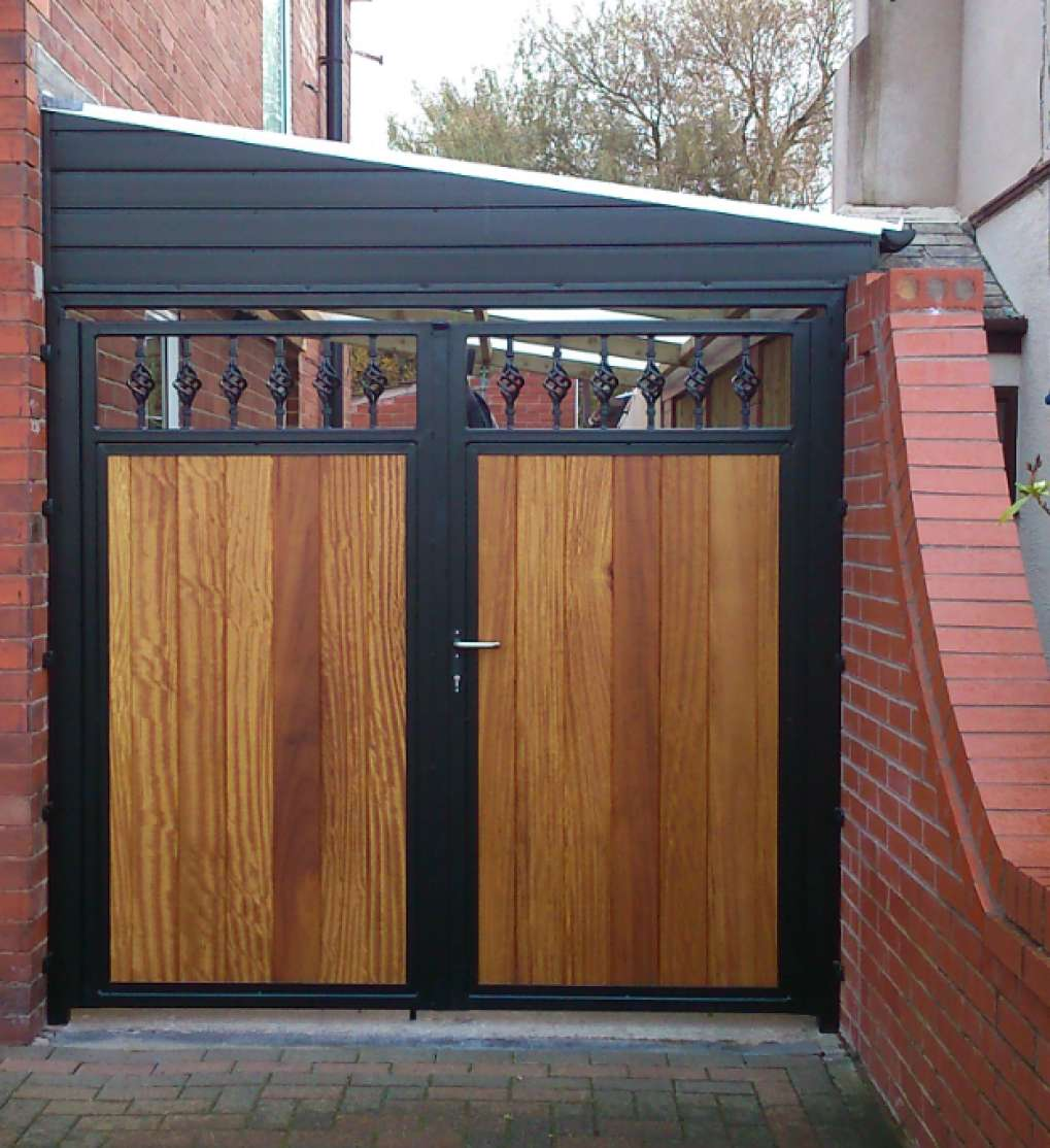 Timber Infill Traditional Double Gate